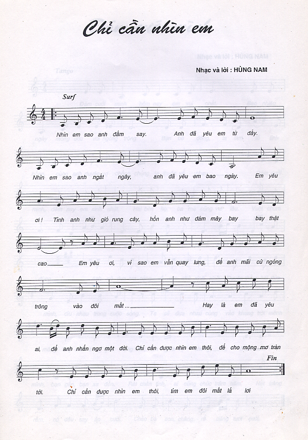 Hung Nam Sheetmusic
